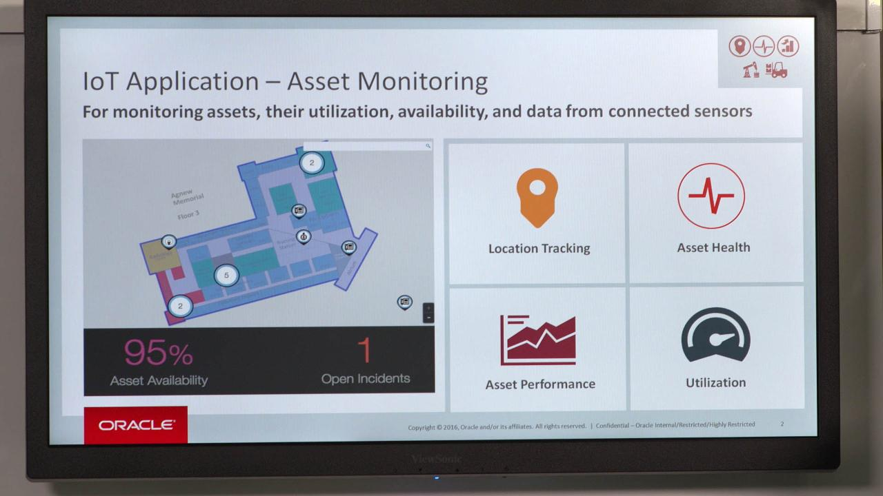 Asset Monitoring with Oracle IoT Cloud Service