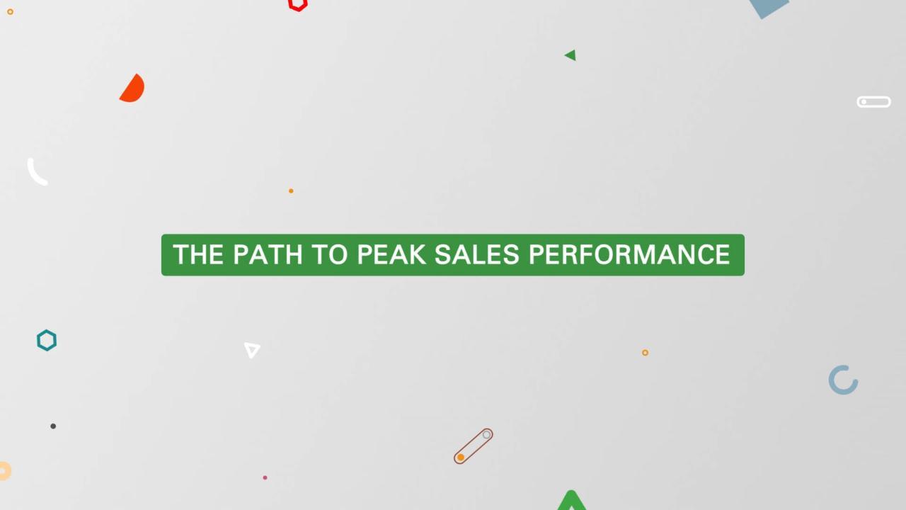 Oracle Sales Cloud: The Path to Peak Sales Performance