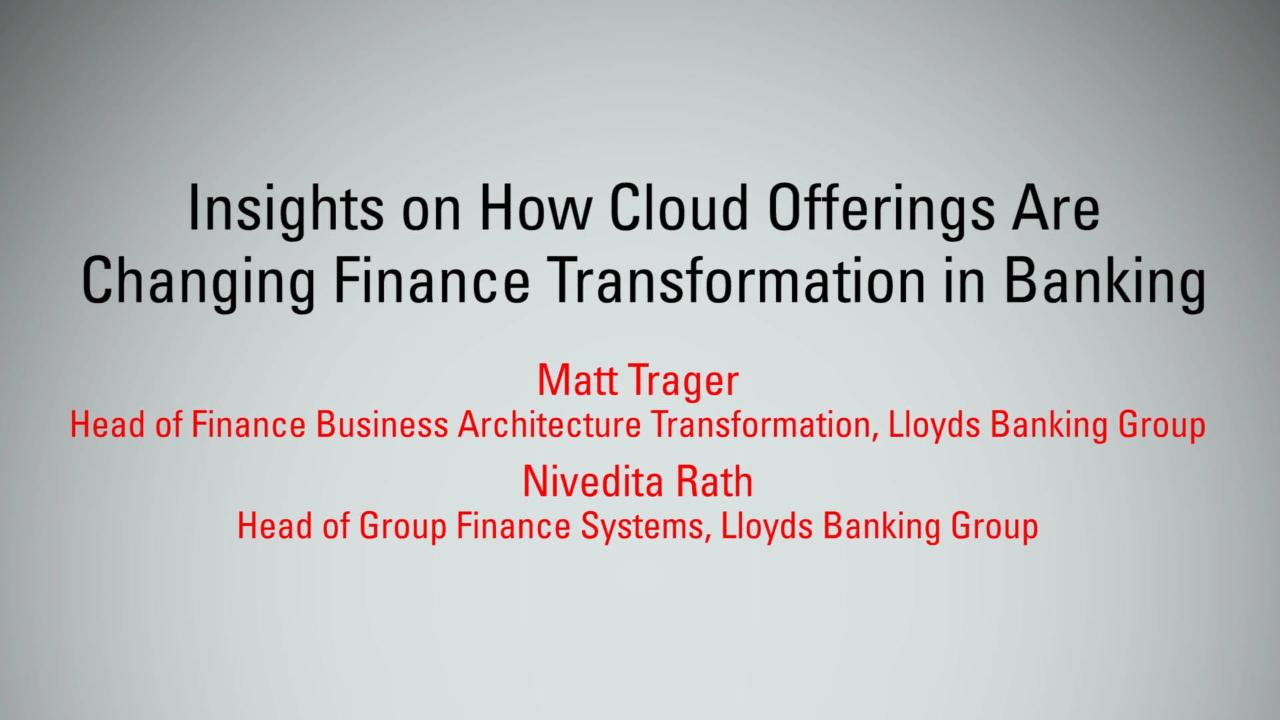 How Cloud Offerings are Changing Finance   MBX 2017