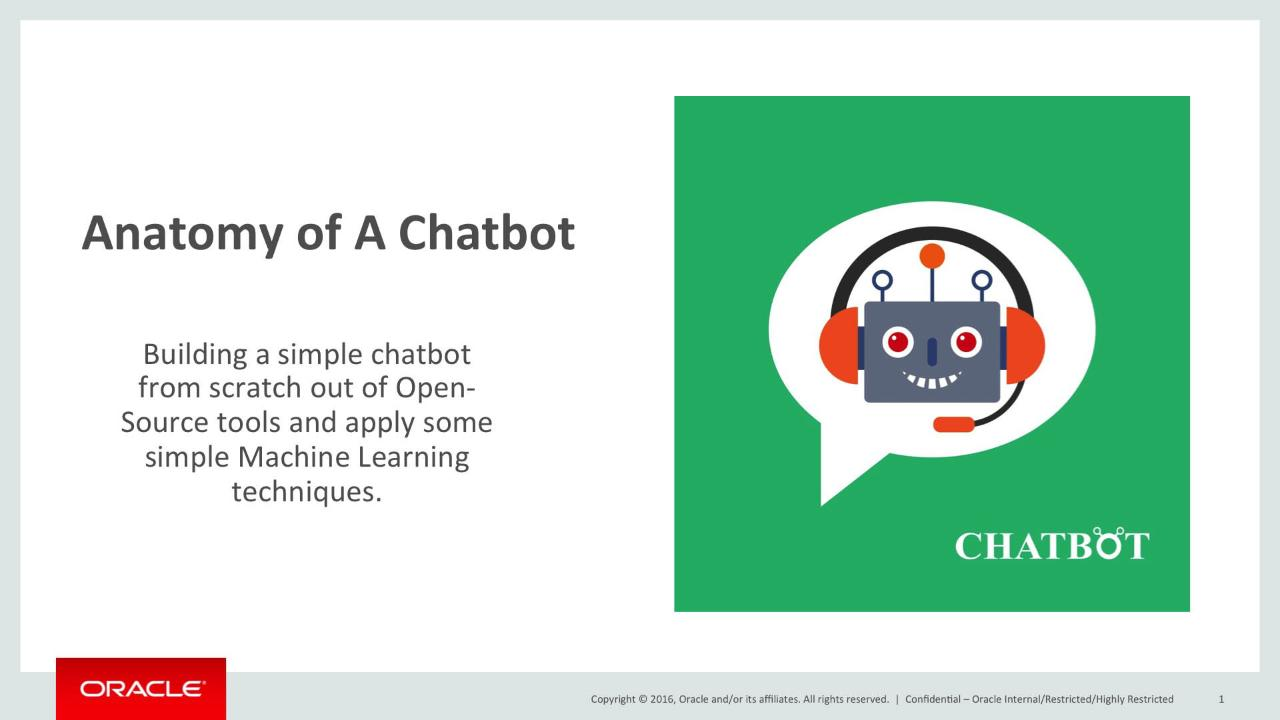 Anatomy of a Chatbot