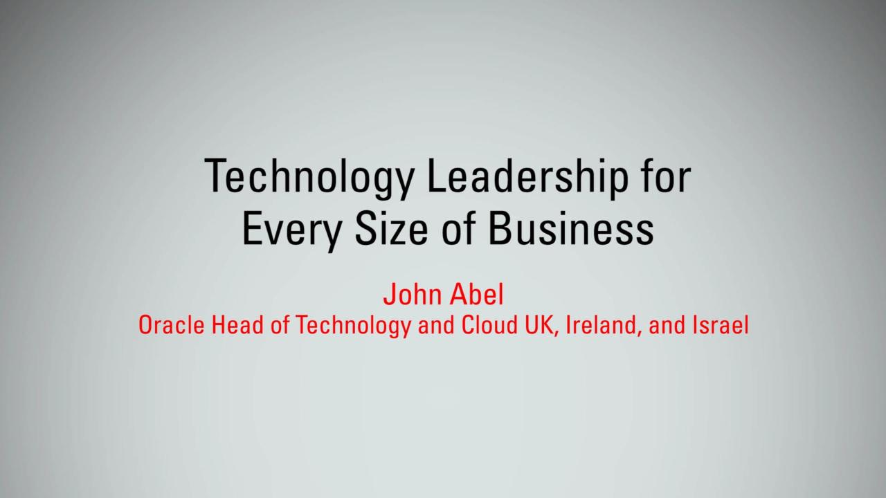 Technology Leadership for Every Size of Business   MBX 2017