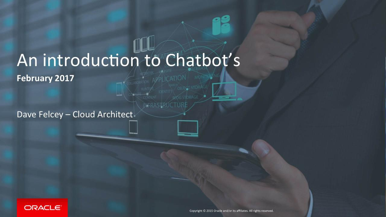 Chatbots -- A Beginners Guide