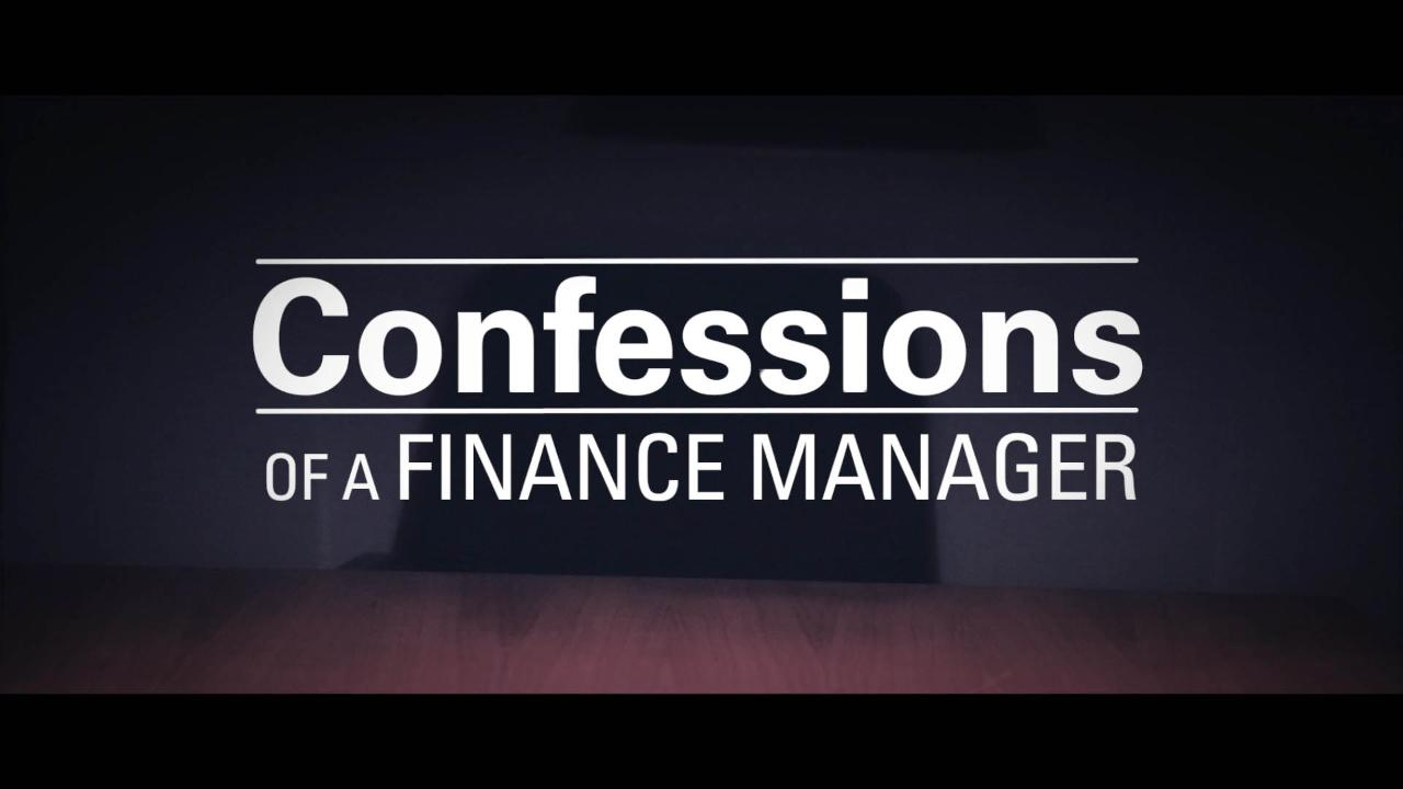 Confessions of a Finance Manager