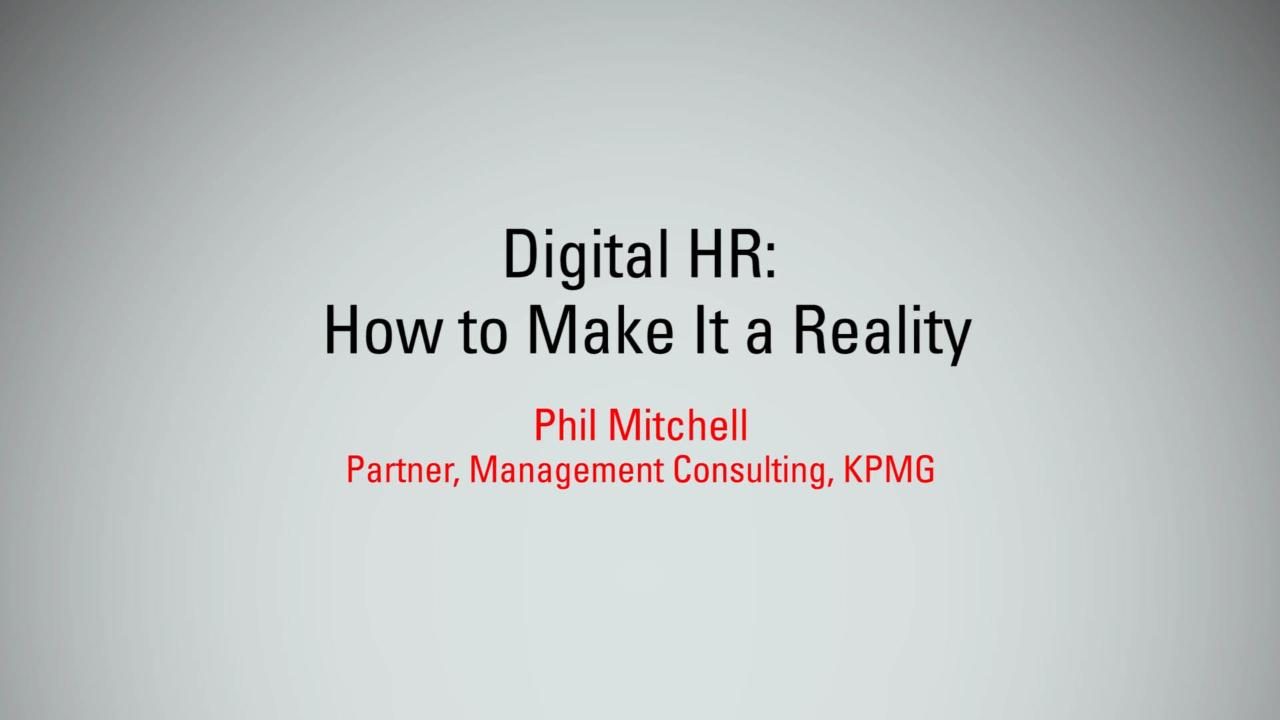 Digital HR: How to Make It a Reality | MBX 2017
