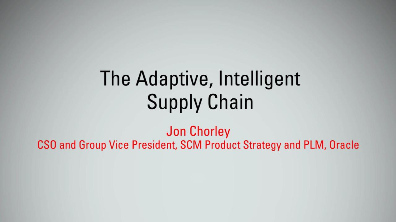Adaptive, Intelligent Supply Chain | MBX 2017