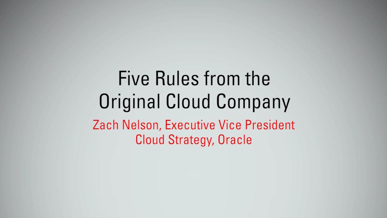Five Rules from the Original Cloud Company   MBX 2017