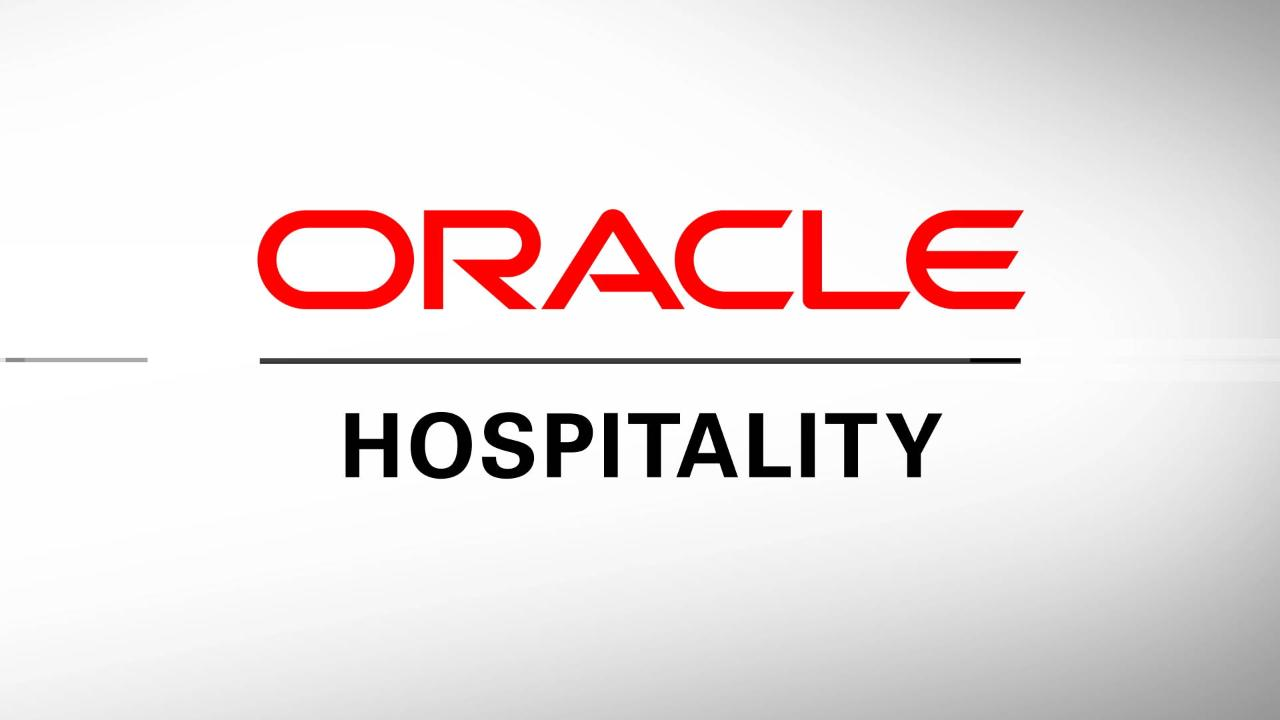 Hospitality Food And Beverage And Hotel Technology Oracle