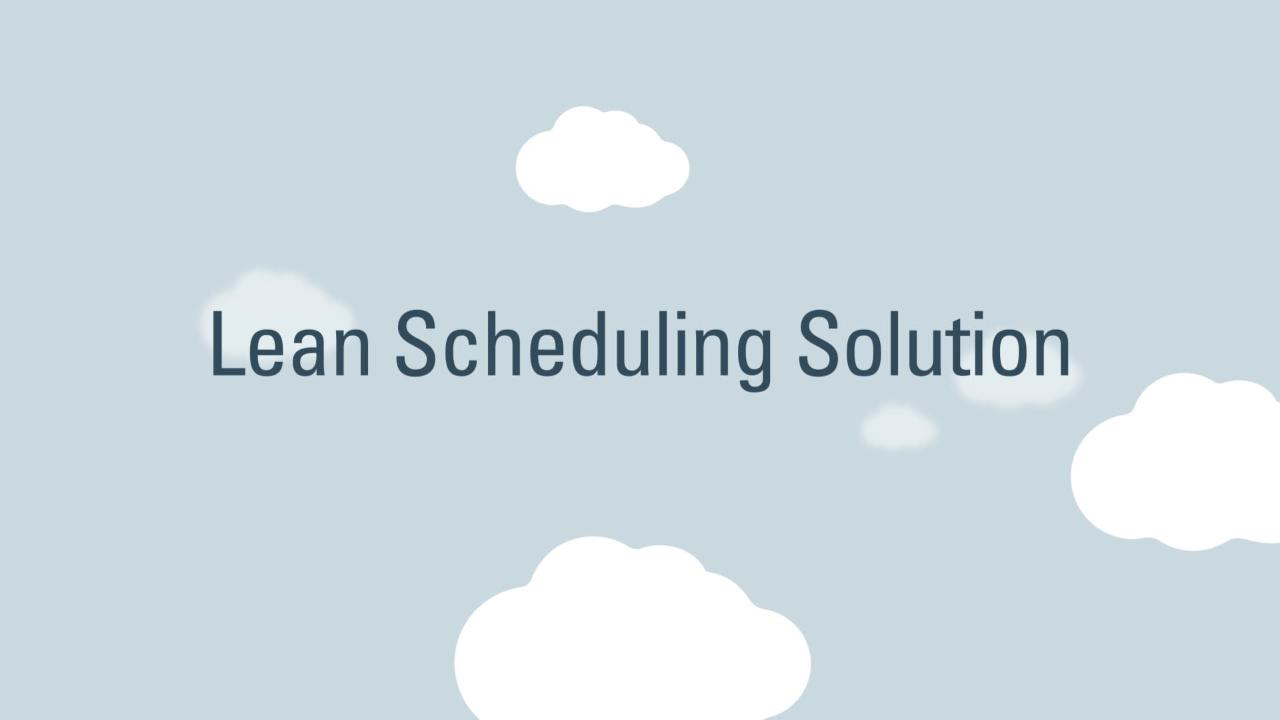 Oracle Lean Scheduling: Unite Lean and CPM