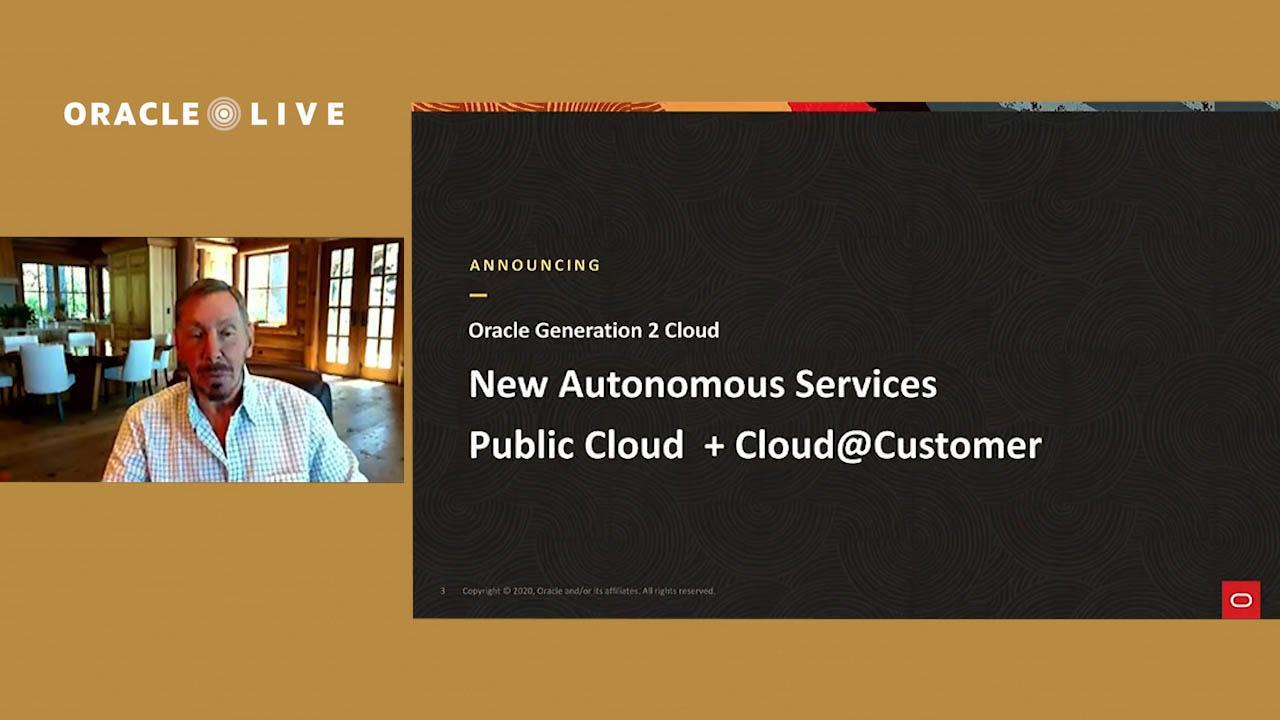 Highlights – Oracle Live: Announcing New Autonomous Services